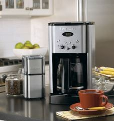 Cuisinart Brew Central 12Cup Programmable Coffeemaker Brushed Stainless Steel