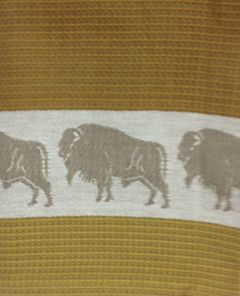 Primitive Artisan Gold Buffalo Towel