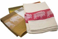 Primitive Artisan Red Buffalo Towel