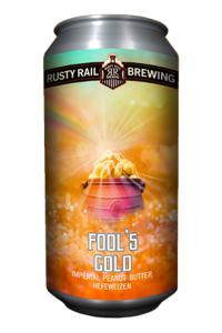 Rusty Rail Fool's Gold Imperial Peanut Butter Hefweizen / 4-pack cans