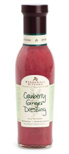 Stonewall Kitchen Cranberry Ginger Dressing 11 OZ