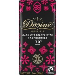 Divine Raspberry 70% Dark Chocolate Bar
