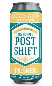 Jack's Abby Dry Hopped Post Shift Pilsner / 4-pack cans