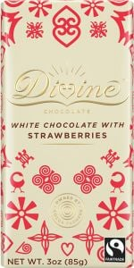 Divine Strawberry White Chocolate Bar