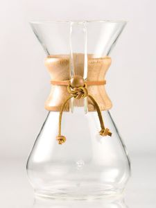 Chemex 8 Cup Classic Glass Coffeemaker with Wood Collar and Tie