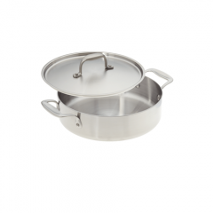 "American Kitchen 10"" Stainless Steel Casserole Pan"