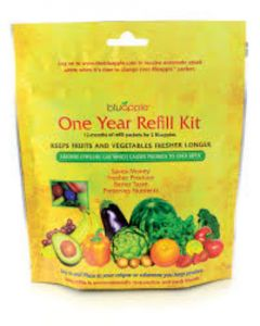 Bluapple Fruit and Vegetable Saver 2 Pack And One Year Refill Kit