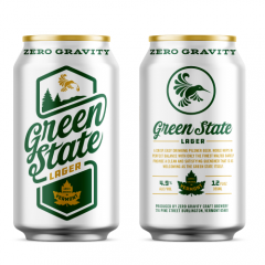 Zero Gravity Green State Lager / 12-pack cans