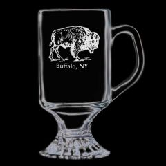 Elegance Confections Buffalo Etched Irish Coffee Mug