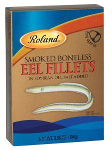 Roland Smoked Boneless Eel Fillets in Oil
