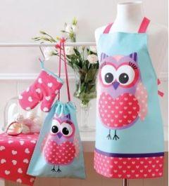Ladelle Sweet Owl Kids Chef Set