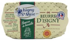 Isigny Ste Mere Beurre D'Isigny Butter with Coarse Salt - 8.8 oz