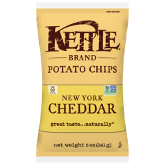 Kettle New York Cheddar Potato Chips - 5 oz Bag