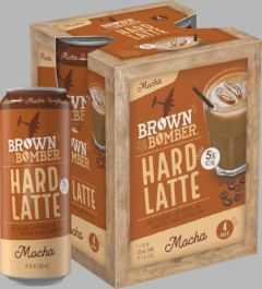 Brown Bomber Mocha Hard Latte - 4 Pack of 11 oz Cans