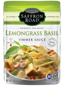 Saffron Road Lemongrass Basil Simmering Sauce 7 oz