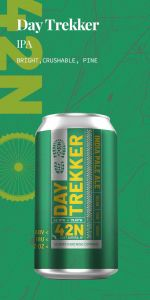 42 North Day Trekker IPA - 6 Pack of 12 oz Cans