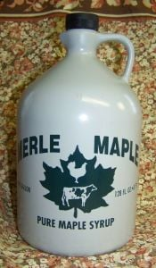 Merle Maple Medium Grade A Amber Maple Syrup Jug 1 Gallon