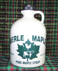 Merle Maple Medium Grade A Amber Maple Syrup Jug 64 OZ