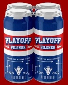 Resurgence Brewing Company - Playoff Pilsner / 4-pack of 16 oz. cans