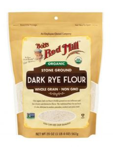 Bob's Red Mill Organic Dark Rye Flour 20 oz Bag