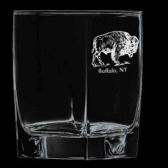 Elegance Confections Buffalo Etched On The Rocks Glass