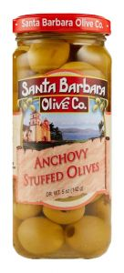 Santa Barbara Anchovy Stuffed Olives - 5 oz Jar