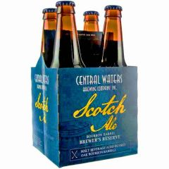 Central Waters Brewing Company - Brewer's Reserve Bourbon Barrel Scotch Ale / 4-pack of 12 oz. bottles