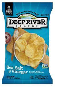 Deep River Sea Salt & Vinegar Cooked Potato Chips 5 oz