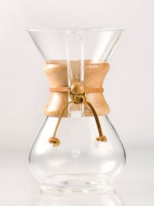 Chemex 6 Cup Classic Glass Coffeemaker with Wood Collar and Tie