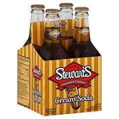 Stewart's Real Sugar Cream Soda 4-pack