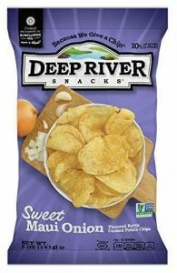 Deep River Sweet Maui Onion Kettle Cooked Potato Chips 5 oz