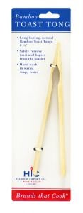 HIC Bamboo Toast Tongs