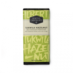 Seattle Chocolate Tukwila Hazelnut Milk Chocolate Truffle Bar