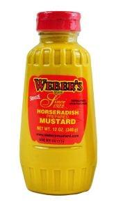 Webers Squeeze Horseradish Mustard 12 OZ