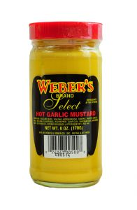 Webers Hot Garlic Mustard 6 OZ
