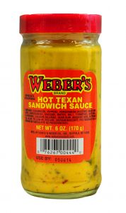 Webers Hot Texan Sandwich Sauce 6 OZ