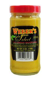 Webers Jalapeno Mustard 6 OZ