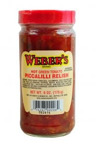Webers Piccallili Relish Hot 6 OZ