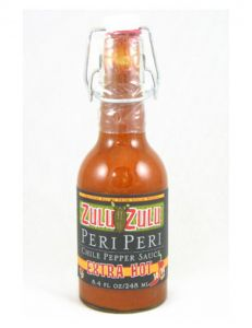 Zulu Zulu Extra Hot Per Peri Hot Sauce 8.4 oz